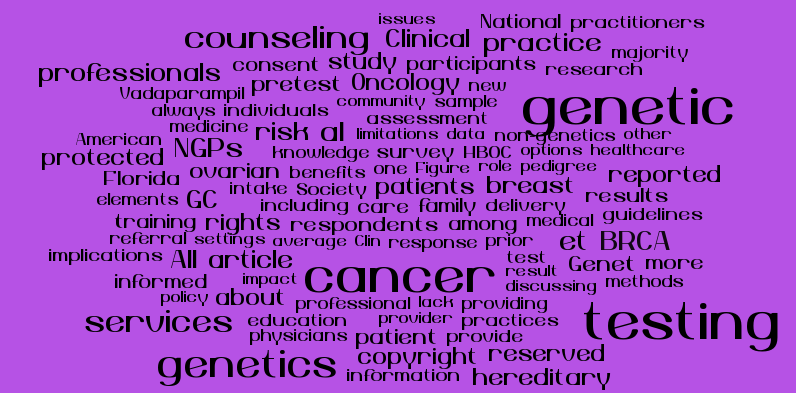 Pretest Genetic Counseling Services For Hereditary Breast And Ovarian Cancer Delivered By Non Genetics Professionals In The State Of Florida Deborah Cragun Phd Cgc